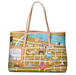 Greetings from Savannah Large Map Tote